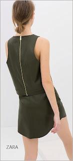 Espalda de blusa en polipiel con cremallera gruesa