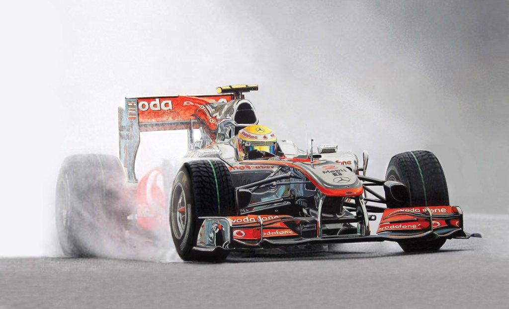 Льюис Хэмилтон McLaren MP4-25 на Гран-при Бельгии 2010 by Tony Regan