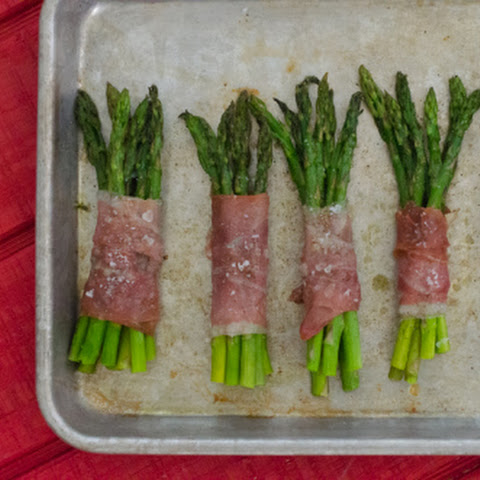 Prosciutto-Wrapped Truffle Asparagus