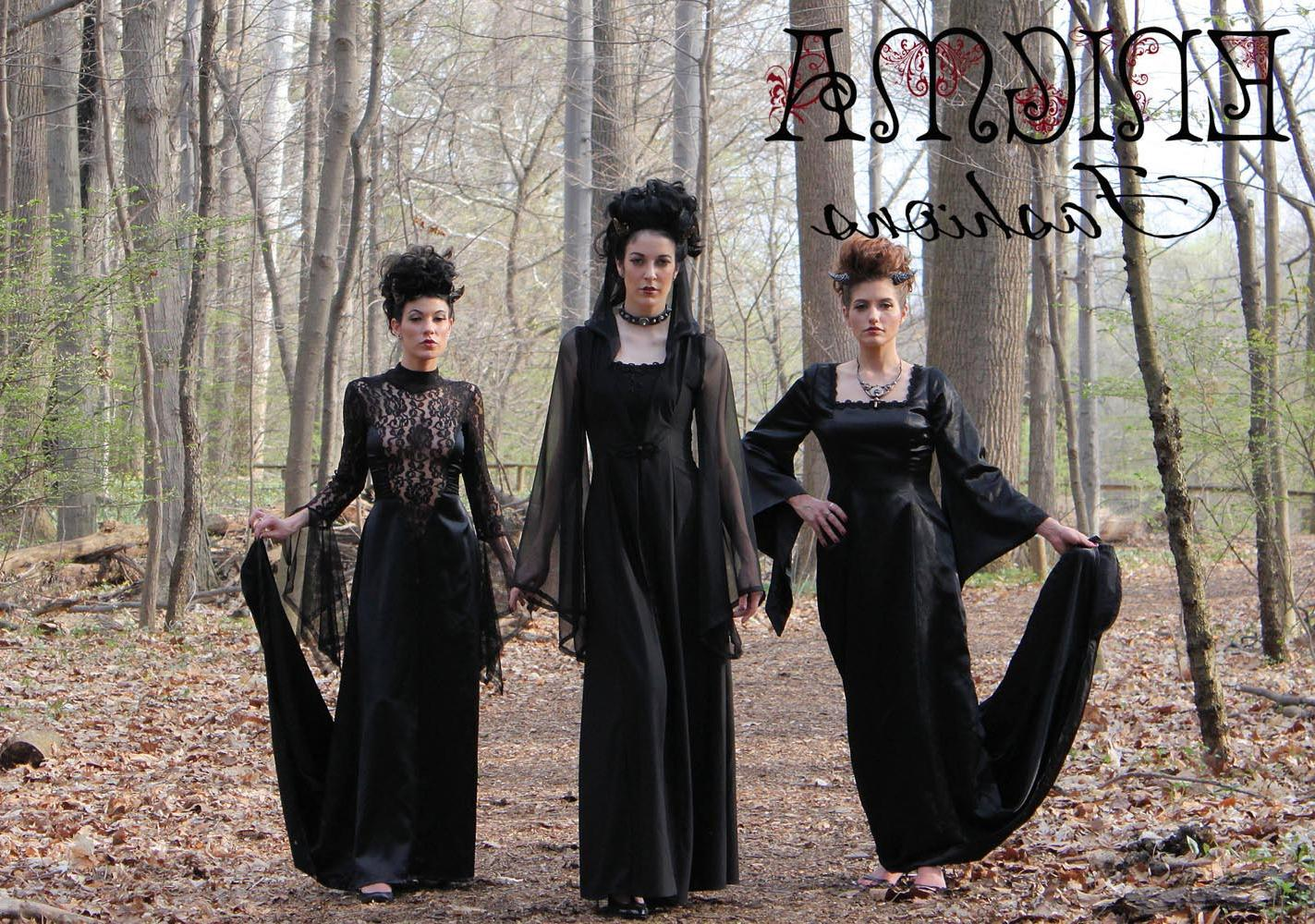 Elegant Gothic Pagan gown in size M. Instock an ready to ship