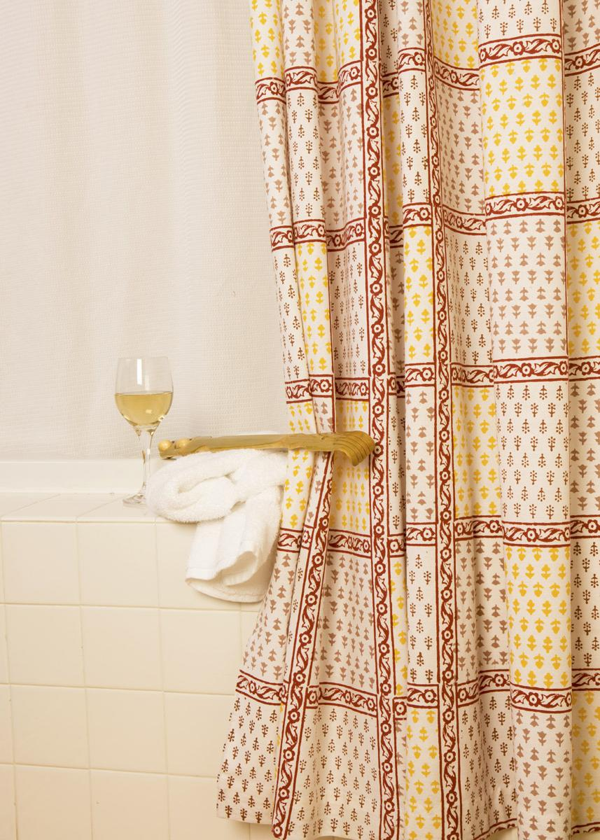 this lavish shower curtain