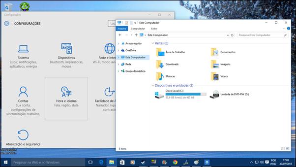 As janelas do Windows 10 trazem um novo visual