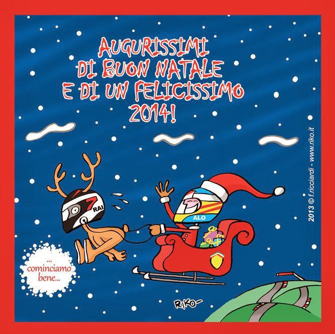 с наилучшими пожеланиями с Рождеством и счастливого 2014 - комикс Riko