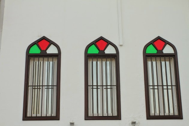 Beautiful windows at Mattrah Souk, Muscat, Oman