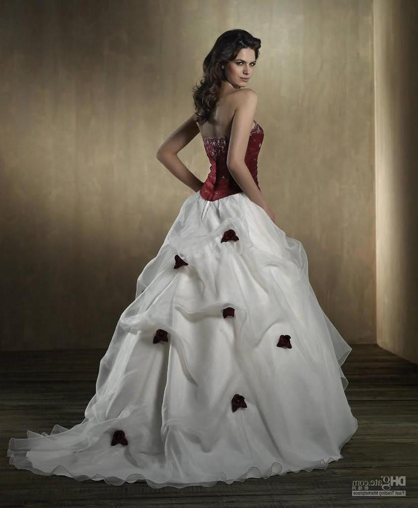 wine red wedding dress