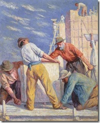 Maximilien-Luce-Workers-on-a-construction-site