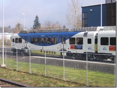 IMG_5041 TriMet Westside Express Service DMU #1001 in Wilsonville, Oregon on January 15, 2009
