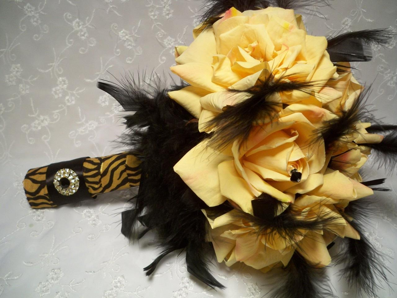 Four Piece Yellow Roses Bridal