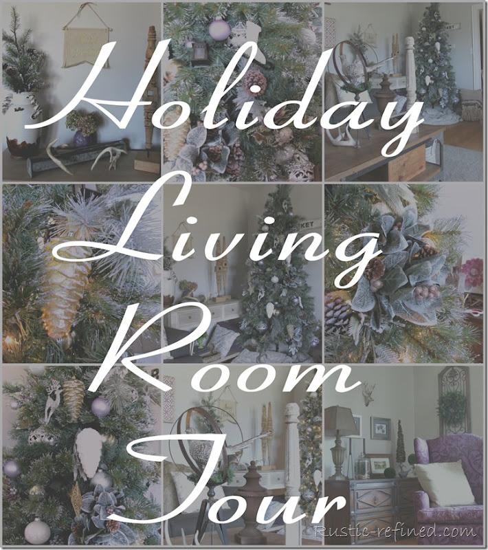 Christmas Living Room Tour of Holiday Decor