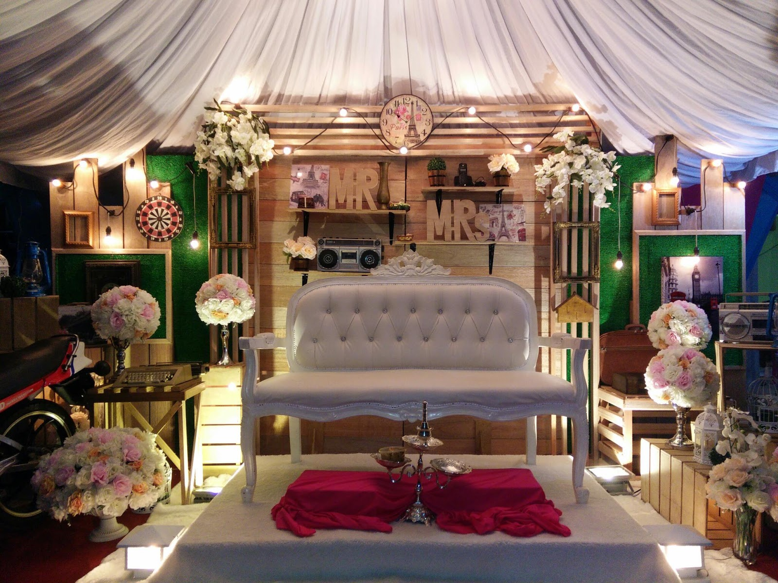 Welcome To My Beauty Wedding World Pelamin Vintage