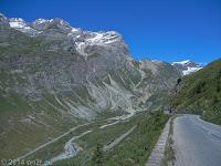 Die Nordrampe des Col de l'Iséran runter zum Wintersportort Val d'Isere.