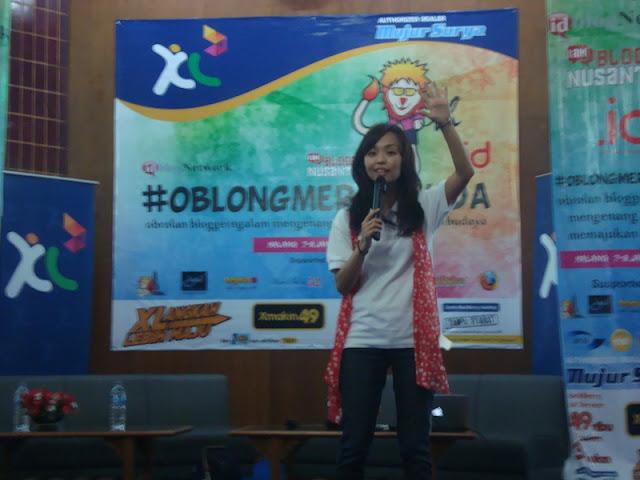 #OblongMerahMuda HUT ke 4 Blogger Ngalam | Demi Larasati