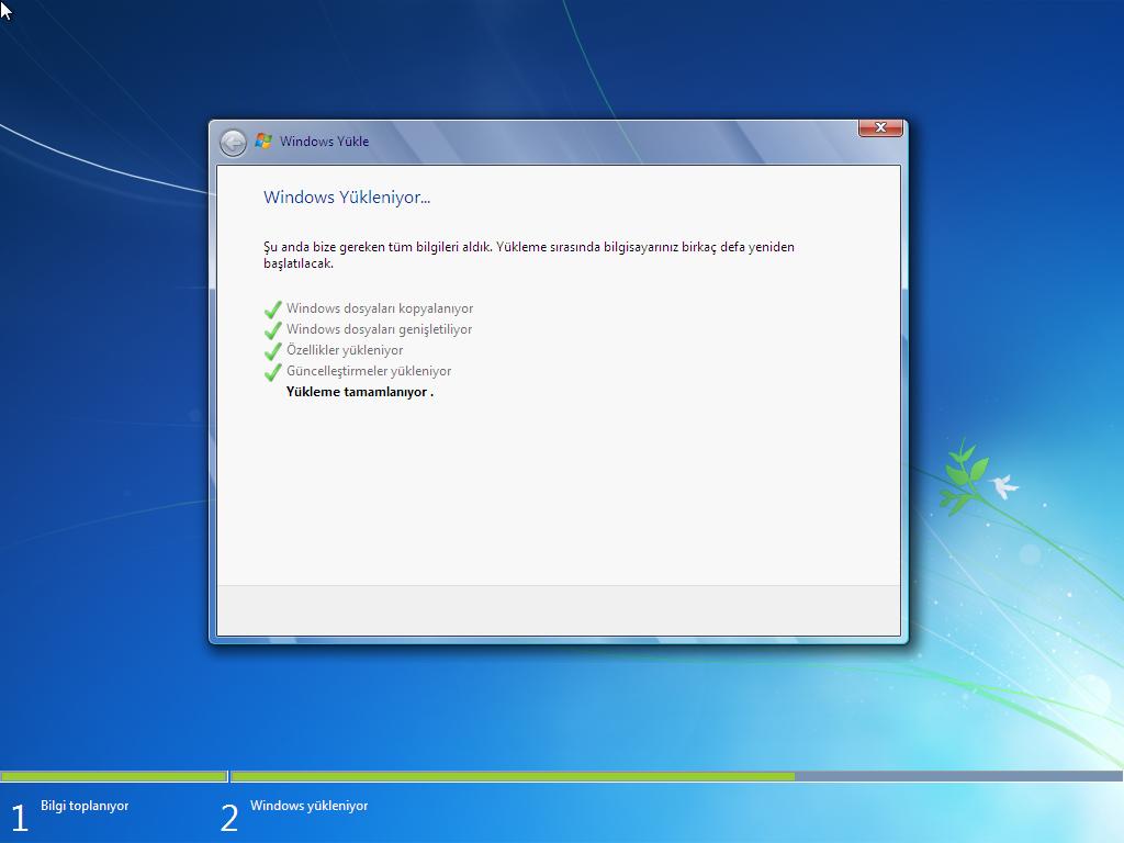 Windows 7 Sp1 Türkçe 64 Bit Tüm Sürümler - Uefi Uyumlu Ağustos 2017