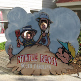 Hannah and Bryan at Barefoot Landing in Myrtle Beach