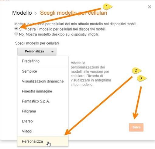 personalizza-modello-blogger