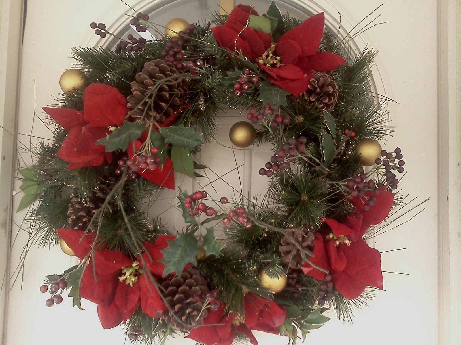 A wreath encircles much like a wedding ring.