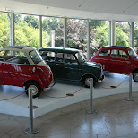 mini cars at the atomium in Brussels, Brussels, Belgium