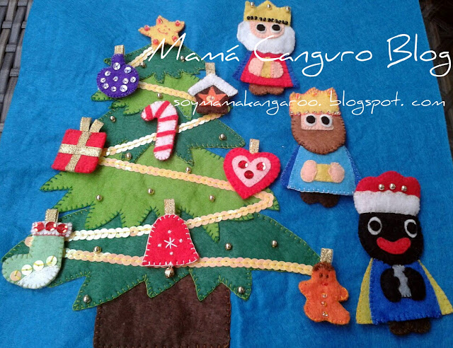 Quiet Book Árbol Navidad