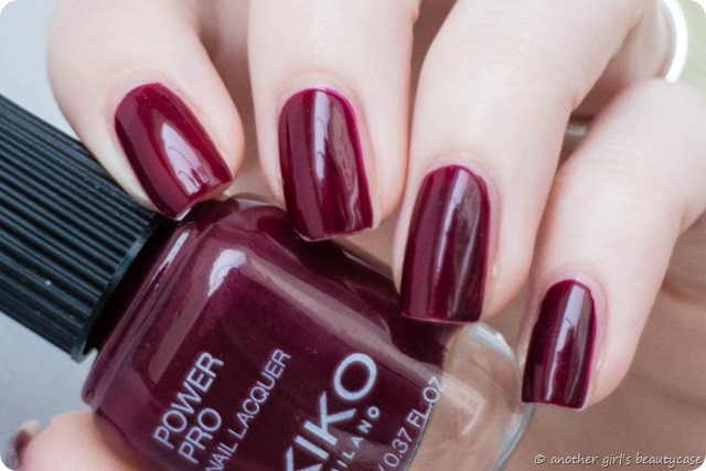 LFB Bprdeaux Oxblood KIKO Power Pro 47 Sangria Swatch-4