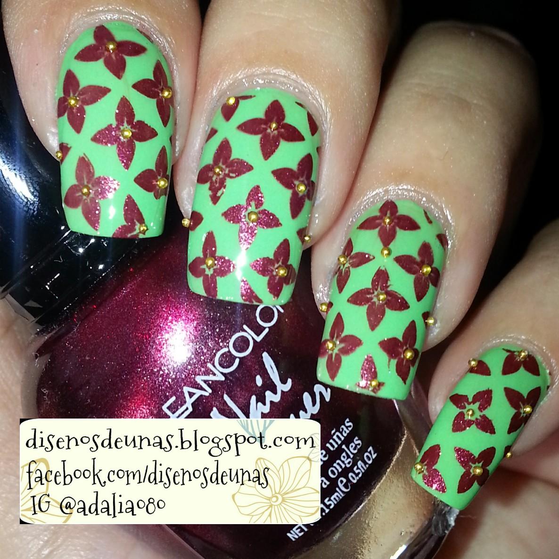 Diseños de Uñas: Diseños de Uñas: Flores / Placa BornPrettyStore BP-L003