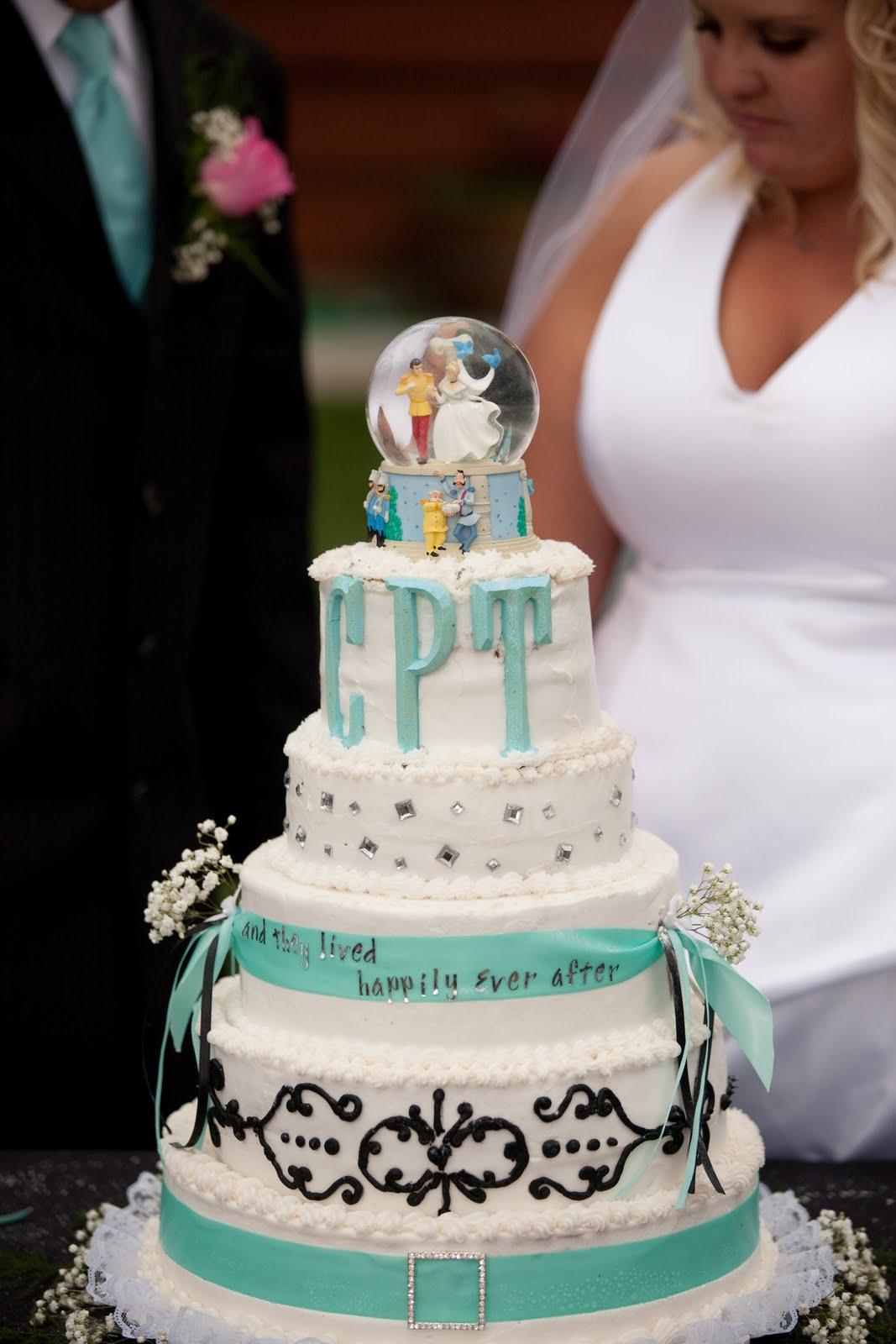 blue and black wedding cake