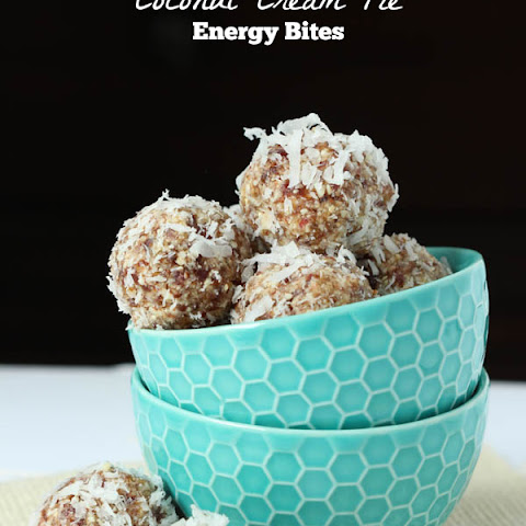 Coconut Cream Pie Energy Bites