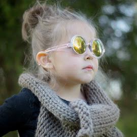 Baby girl  by Brandi Davis - Babies & Children Children Candids ( model, girl, outdoor, sunglasses, preschool )