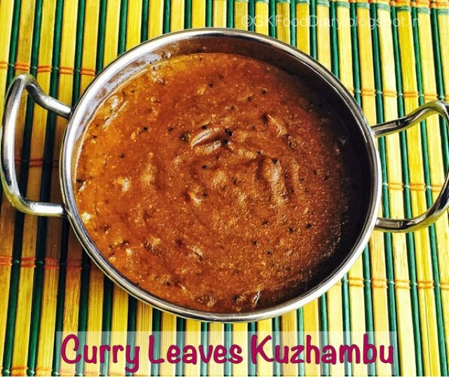 Curry leaves Kuzhambu Recipe Tamilnadu Style|KaruveppilaiKuzhambu(without Coconut)| Kuzhambu Recipes 2