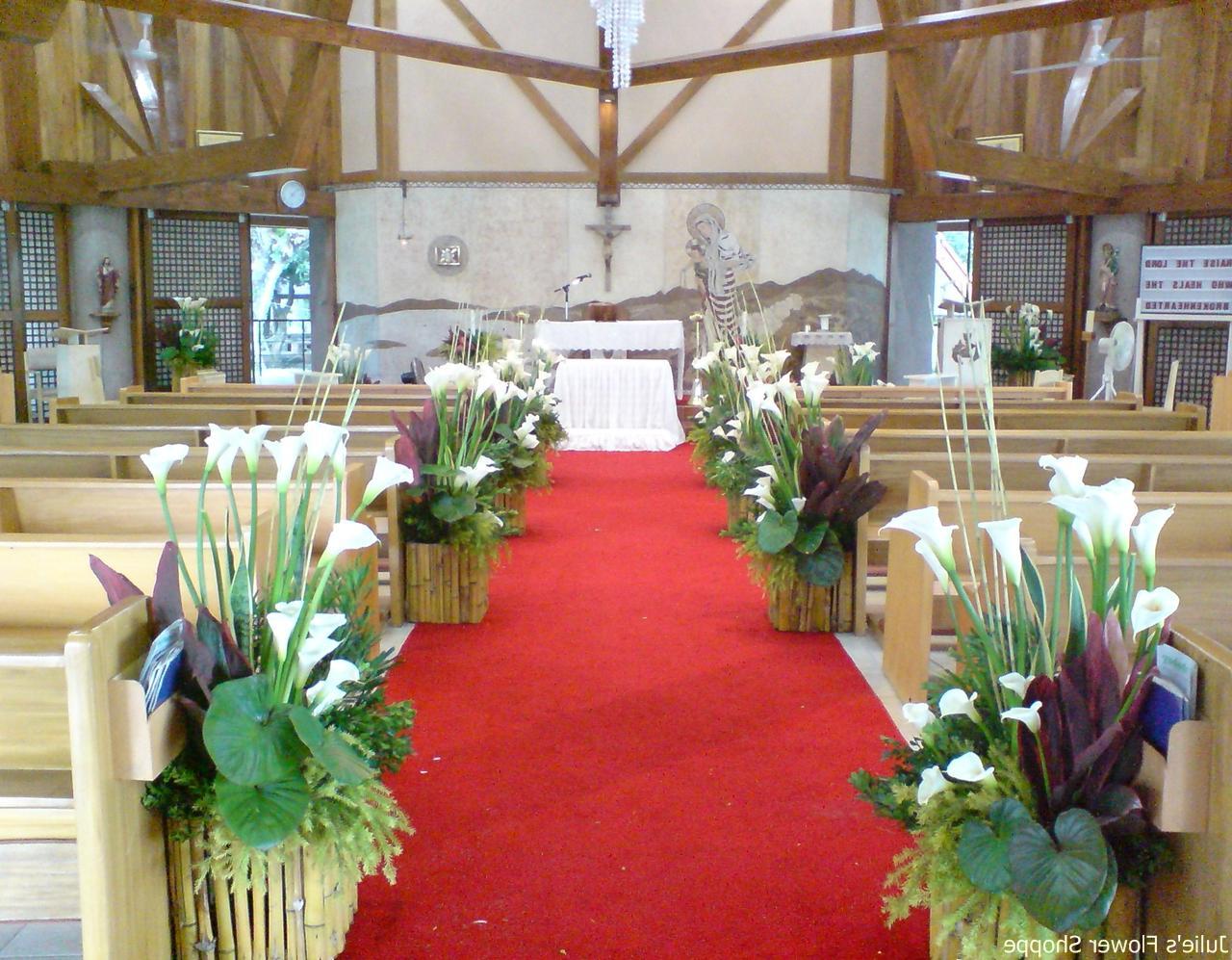 Church wedding flower
