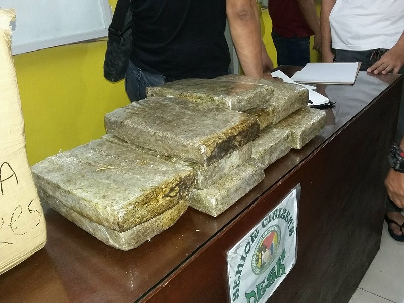 Image of Ten Blocks of Dried Marijuana Found in Quezon City Bus Terminal