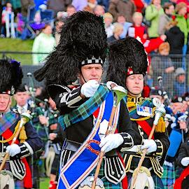 Drum Major-Ballator, Scotland by Robert Thompson - People Musicians & Entertainers