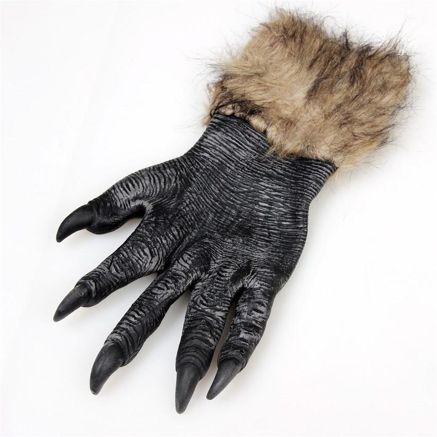 neu handschuhe schwarz werwolf krallen halloween kost m cosplay ebay. Black Bedroom Furniture Sets. Home Design Ideas