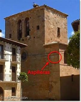 Torre de la iglesia de Santa Catalina y aspilleras - Cirauqui