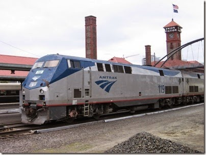 IMG_0751 Amtrak P42DC #119 at Union Station in Portland, Oregon on May 10, 2008