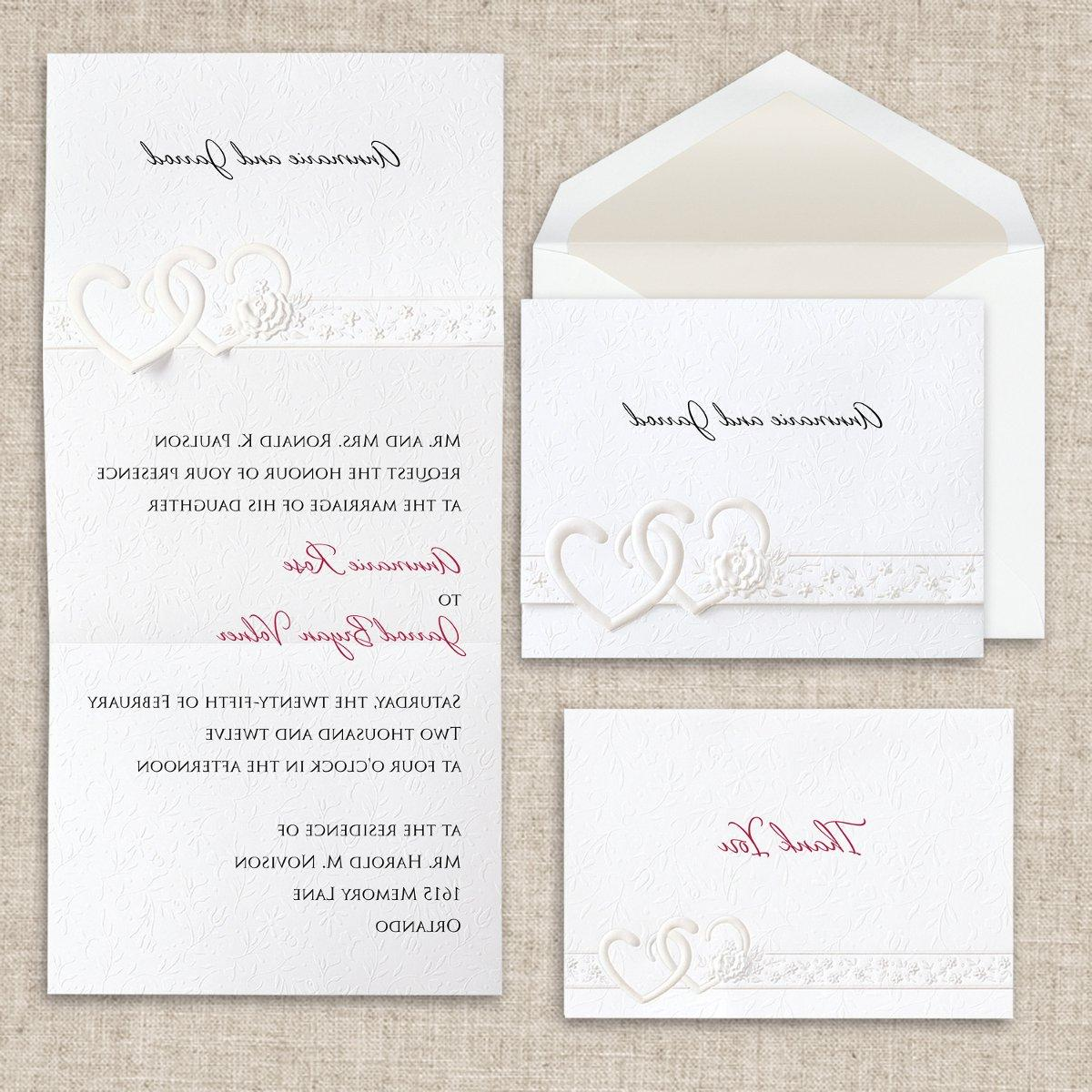 Elegant Shabby Chic Ivory White Exclusively Weddings Invitations Menu Cards