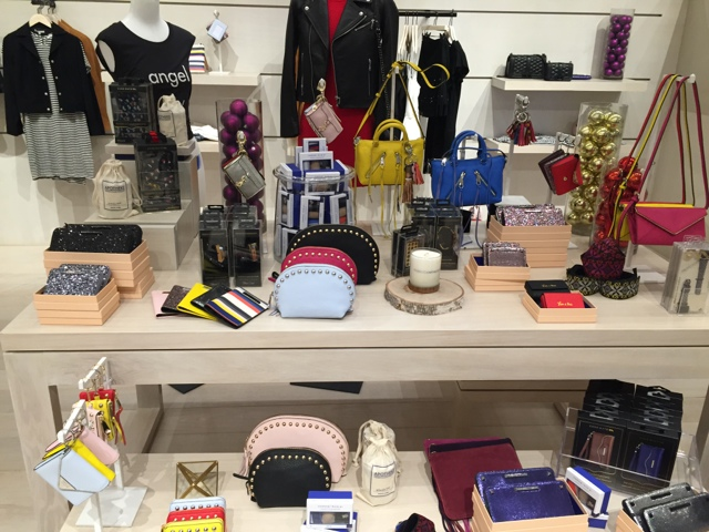 Display of Rebecca Minkoff Products in her flagship store in Los Angeles on Melrose Ave