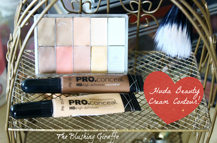 huda beauty cream contour how to guide step by step