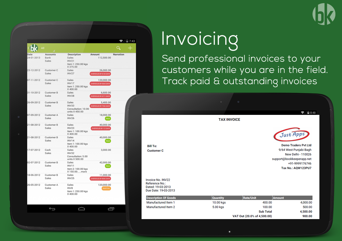 Book Keeper Accounting+Invoice Screenshot 9