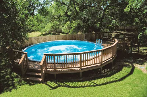 Round Above Ground Pool With Deck