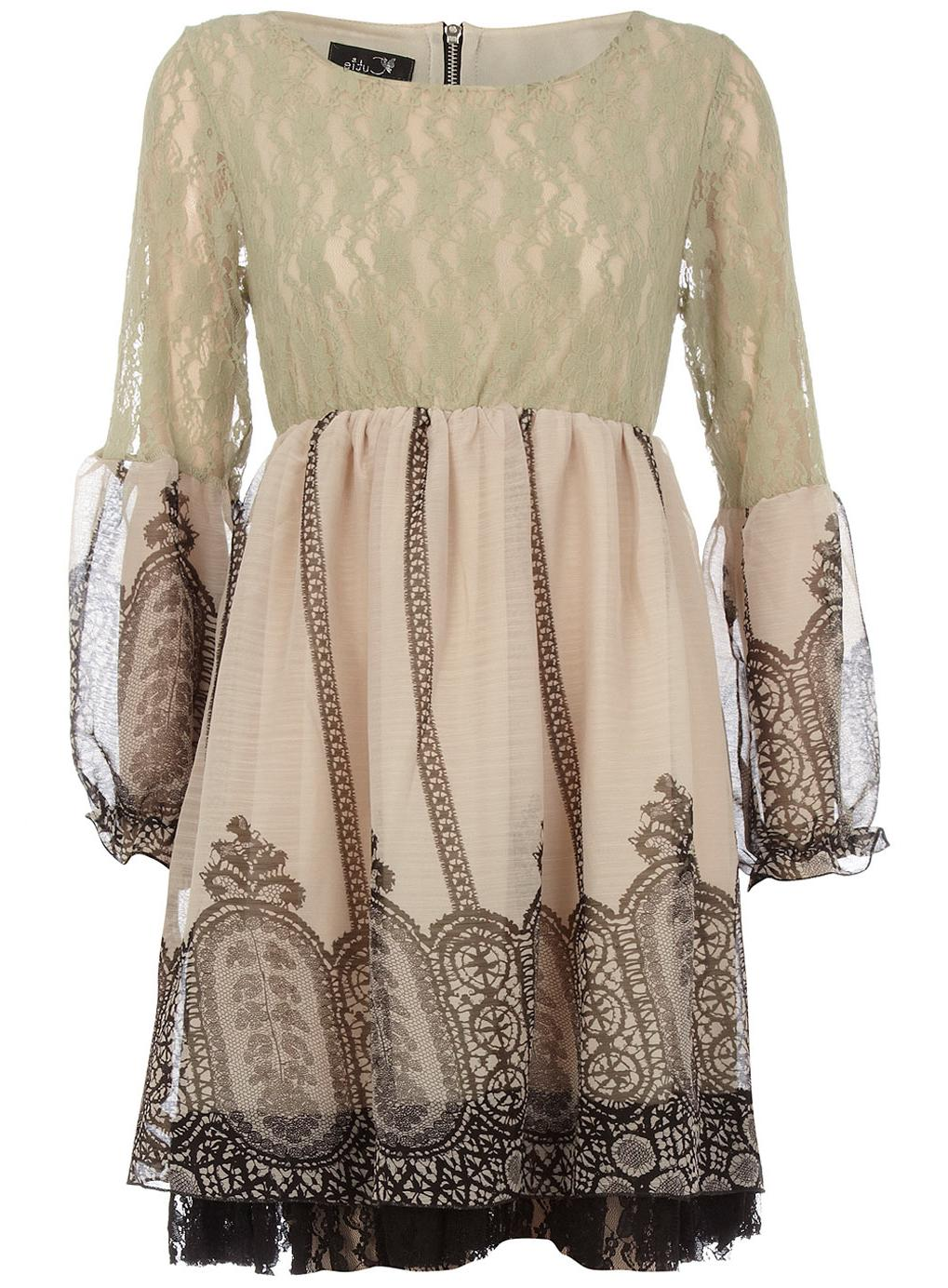 Cream lace and trim dress. Recently Viewed. Product info; Delivery & Returns
