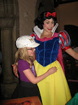 Hannah introducing Bryan to Snow White in the Akershus restaurant in Norway in Epcot 06072011