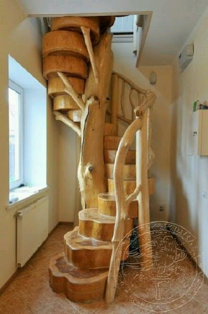 Фото винтовой лестницы из дерева своими руками