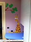 disegno su muro - giraffa