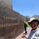 """Latitud 0o -0´000"""" ( de verdade, não é aí) Ciudad de la Mitad del Mundo - Quito, Equador"""