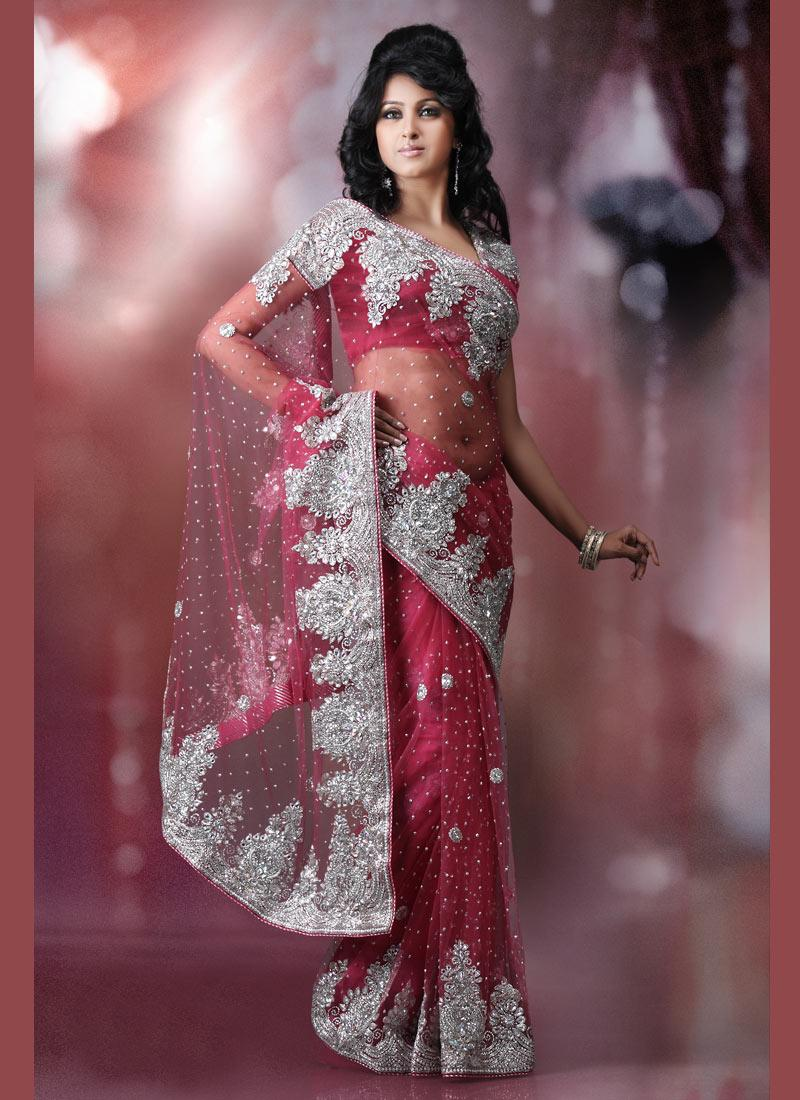 Pink Party Wear Designer Saree