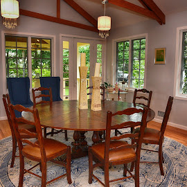 Dining Room  by Lorraine D.  Heaney - Buildings & Architecture Architectural Detail