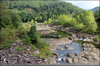 Ocoee River III Olympic Center before water release, looking downriver from main bridge