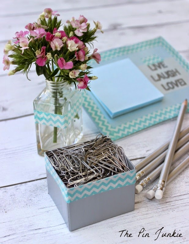washi tape desk set diy
