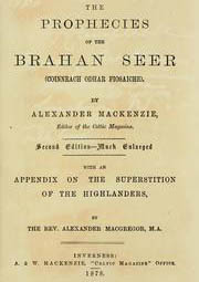 Cover of Alexander Mackenzie's Book The Prophecies of the Brahan Seer