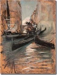 Giovanni-Boldini-Canale-a-Venezia-con-gondole